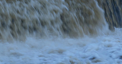 Endless stream of falling water Footage