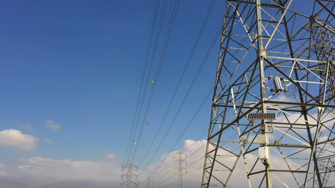 Electric Power Line Stock Video Footage