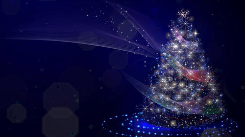CHRISTMAS tree with lights CG動画素材