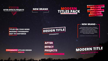 Motion Pack After Effects Template