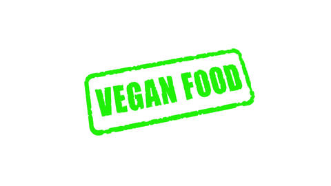Stamp Vegan Food, alpha matte Animation