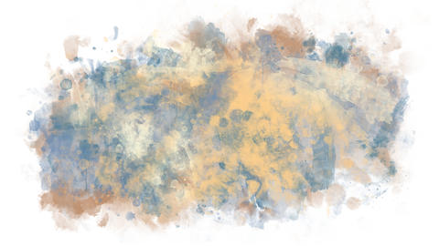 Watercolor blot of blue and sand colors Animation