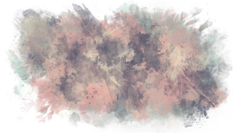 Background of watercolor brushes Animation