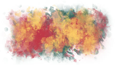 Background of colorful watercolor spots Animation