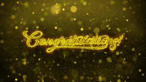 Congratulations Wishes Greetings card, Invitation, Celebration Firework Live Action