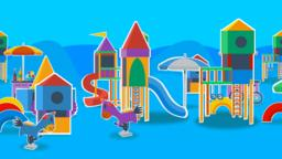 Playground with blue background Animation