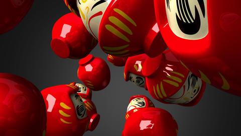 Red Daruma Dolls 1