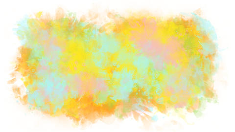 Colored background from watercolor stains Animation