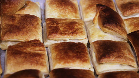 Baked Puff Pastry Footage
