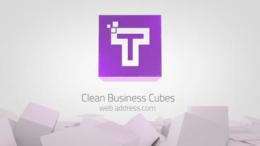 Clean Business Cubes Logo Reveals Premiere Proテンプレート