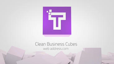 Clean Business Cubes Logo Reveals Premiere Pro Template