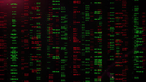 Virtual Display Monitoring Financial Stock Market Prices Animation