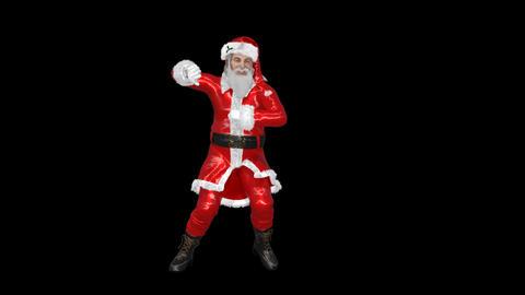 Santa is dancing gangnam style, transparent background Live Action