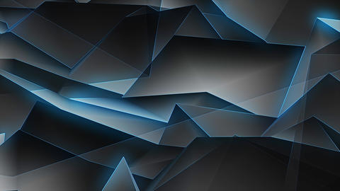 Dark Blue Glowing Lines 4K Animation
