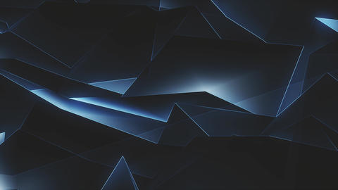 Tech Low Poly Background Loop 4K Animation