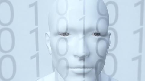 Digital artificial human intelligence born Footage