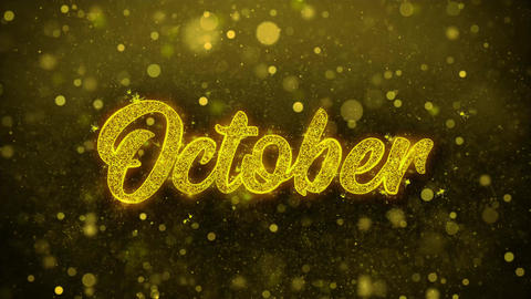 October Wishes Greetings card, Invitation, Celebration Firework Footage