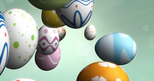 Flying Easter Eggs Animation
