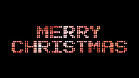 Merry Christmas text for celebration with colorful fireworks, alpha/transperancy Animation