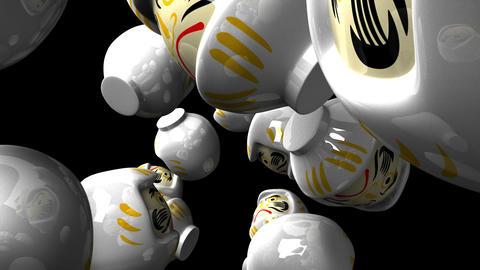 White Daruma Dolls
