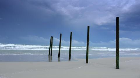 Beautiful Daytona beach - absolutely empty Live Action