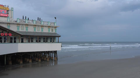 Daytona pier in the evening Live Action