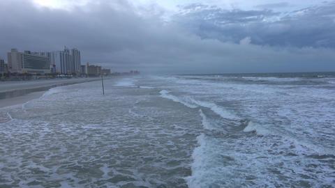 Daytona beach on a rainy evening Live Action