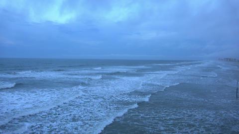Daytona Beach on a rough rainy day Live Action