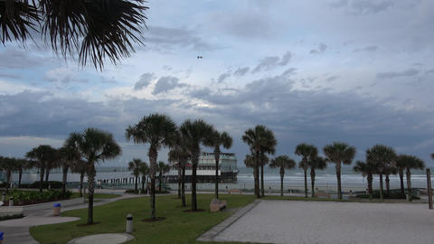 Daytona Beach on a rainy day Live Action