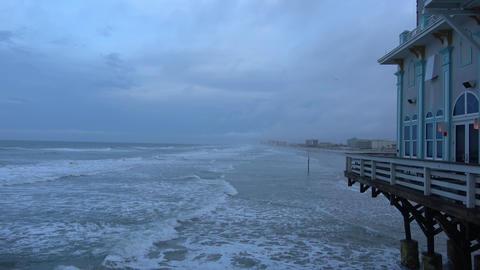 Daytona Pier at Daytona beach in the evening Live Action