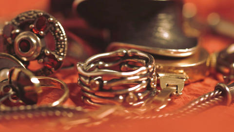 A variety of jewelry Footage
