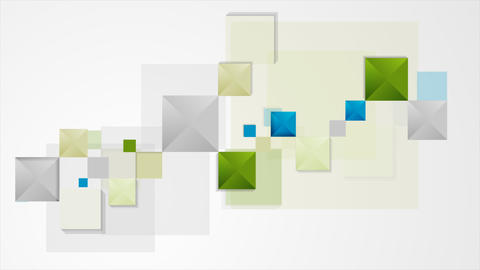 Abstract minimal geometric squares video animation Animation