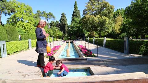 In iran antique garden 0001 Footage