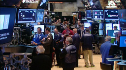 Dow Jones and S&P 500 inside New York Stock Exchange Footage