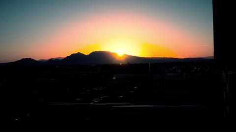 Sunrise Timelapse Over Las Vegas stock footage
