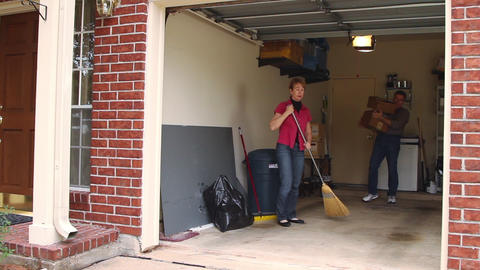 cleaning out the garage Footage