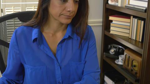 hispanic woman attorney working 4k Footage