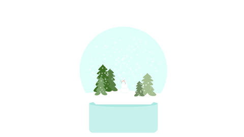 Dancing snowman in a snowglobe After Effects Template