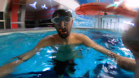 Man Swimming Under Water GIF