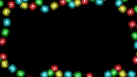 Christmas Lights Alpha Animation