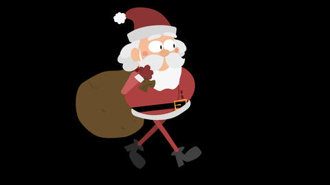 Santa Claus Animation Element 5 - running with sack Animation