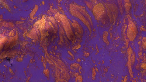 Copper and purple marble liquid texture Footage