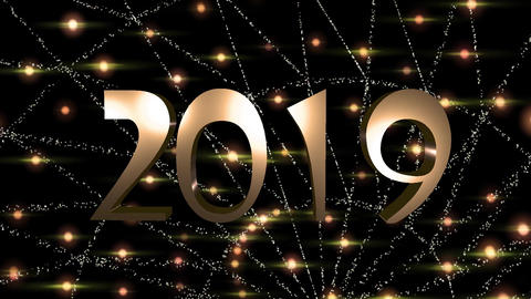 Happy New Year Animation 2019, HD Video Animation