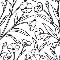 flax vector pattern ベクター