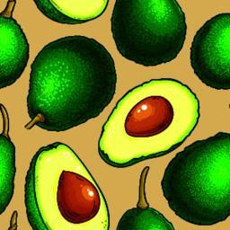 avocado vector pattern ベクター