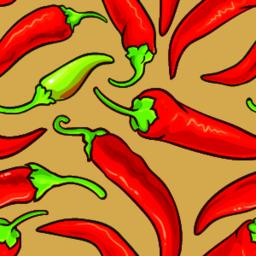 cayenne pepper vector seamless pattern ベクター