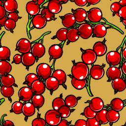 red currant berries vector patten ベクター