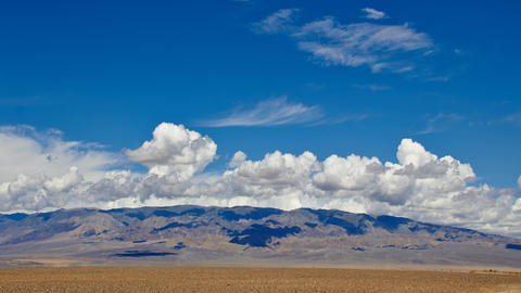 Cloud Moving Over Desert Mountains Footage