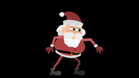 Santa Claus Animation Element 6 - sneaking Animation