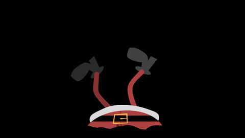 Santa Claus Animation Element 20 - stuck in (a chimney) upside down 애니메이션